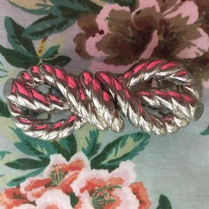 Vintage 1999 Mimi di N Knot Silver Belt Buckle